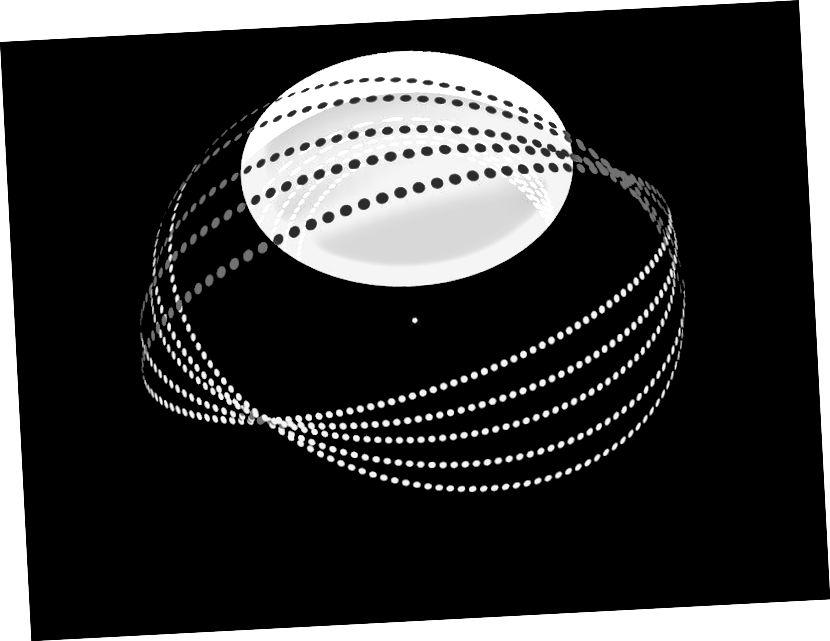 Ein Sternmotor vom Typ C von unten gesehen, der als Hybrid zwischen einem Sternmotor vom Typ A und einem Sternmotor vom Typ B definiert ist. Ein Sternmotor vom Typ A kann durch das Vorhandensein des Riesenreflektors identifiziert werden, und ein Sternmotor vom Typ B wird von den Dyson-Schwärmen um den Stern definiert, um Energie zu sammeln.