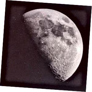 Падзея TLP, запісаная на Месяцы, разглядаецца як белая кропка каля цэнтра фота. Малюнак: Універсітэт Калумбіі.