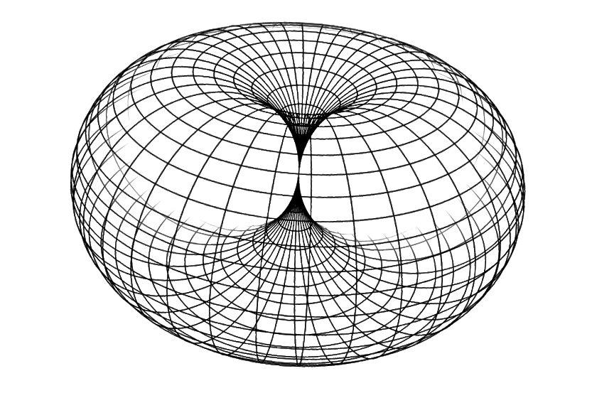 (Links & Mitte) Eine Darstellung, wie ähnlich ein Planetenmagnetfeld und das Magnetfeld eines Einzelschleifenmagneten sind. (Rechts) Ein Beispiel für einen geschlossenen Torus (Einzelschleifenmagnet), die ideale Lösung für ein System mit minimalem elektrischen Widerstand zur Erzeugung eines Magnetfelds. Wir benötigen ein kleines Loch in der Mitte, damit unser Magnetfeld hindurchtreten kann.