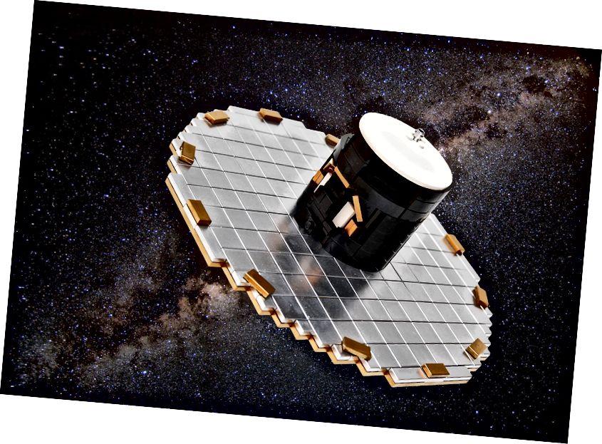 Một nghệ sĩ tái hiện kính viễn vọng không gian Gaia (ESA)