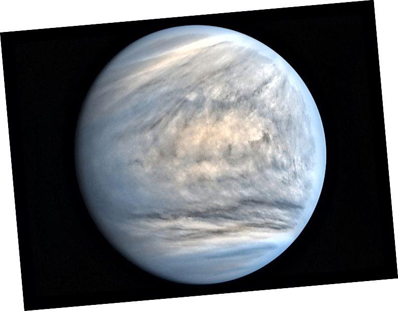 Прекрасна снимка на Венера от японския космически кораб Акацуки.