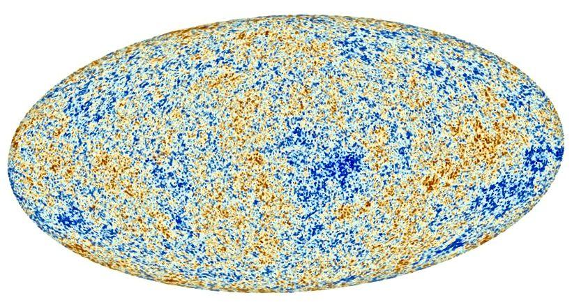 Kosmilise mikrolaine fooni kõikumised ulatuvad kümnetest sadade µK, kuid üldine temperatuur on 2 725 K. Kujutise krediit: ESA ja Plancki koostöö.