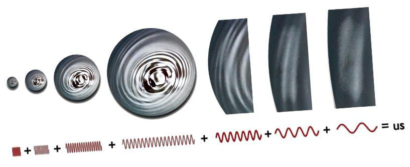 Kuigi kosmiline inflatsioon sirutab Universumi tasaseks, sirutab see ka tühja ruumi kvant kõikumisi kogu Universumis endas, jäljendades tiheduse / energia kõikumisi kosmoseaja kangale. Pildikrediit: E. Siegel.