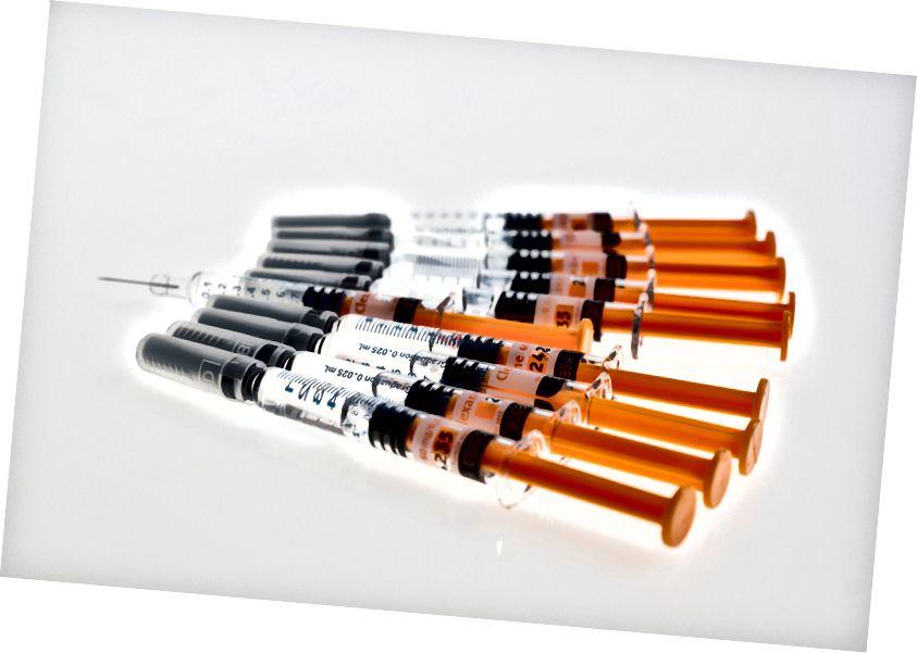 Im Bild: Mit ziemlicher Sicherheit Botox-Injektionen. Ich habe gesagt, Stock Fotos von Impfstoffen saugen Quelle: Pexels