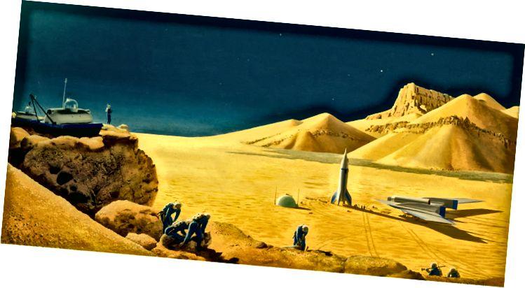 Знаёмства з Марсам (Фота: рэпрадукцыя ласкавасці кампаніі Bonestell LLC)