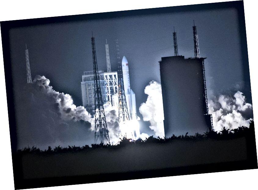 Тэставы запуск ракеты