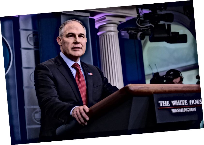Scott Pruitt, a Környezetvédelmi Ügynökség adminisztrátora. Fotó: Cheriss May / NurPhoto a Getty Images webhelyen