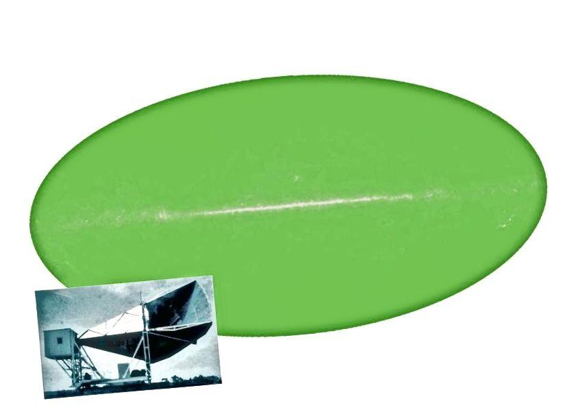 Prema izvornim promatranjima Penziasa i Wilsona, galaktička ravnina je ispuštala neke astrofizičke izvore zračenja (centar), dok je iznad i ispod te ravnine postojala gotovo savršena, ujednačena pozadina zračenja. Temperatura i spektar ovog zračenja sada su izmjereni, a slaganje s predviđanjima Velikog praska je izvanredno. (NASA / WMAP SCIENCE TEAM)