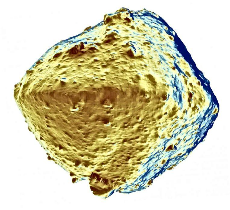 לא ברור כיצד גופו ההורי של רוגו התייבש כל כך. ייתכן שזה מחומם באופן פנימי על ידי חומרים רדיואקטיביים, או סבל מהפצצות ממושכות על ידי גופות סלעיות אחרות (© 2019 Seiji Sugita et al., Science)