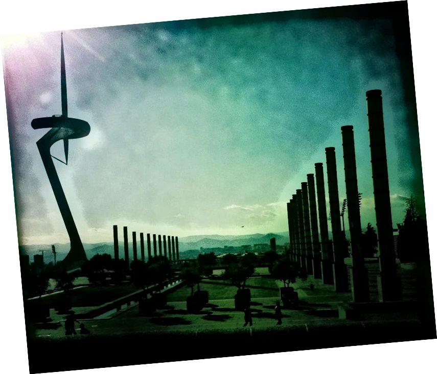 Гэта яскрава сведчанне для чужой цывілізацыі. Ці гэта парк Алімпік і вежа сувязі ў Барселоне. Крэдыт малюнкаў: Эн Вуйт з Flickr пад cc-by-2.0.