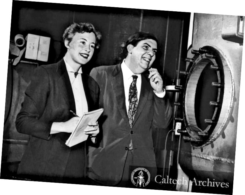 Margareta un Džefrijs Burbiids, pionieri zvaigžņu nukleosintēzes jomā. Attēla kredīts: Caltech Archives.