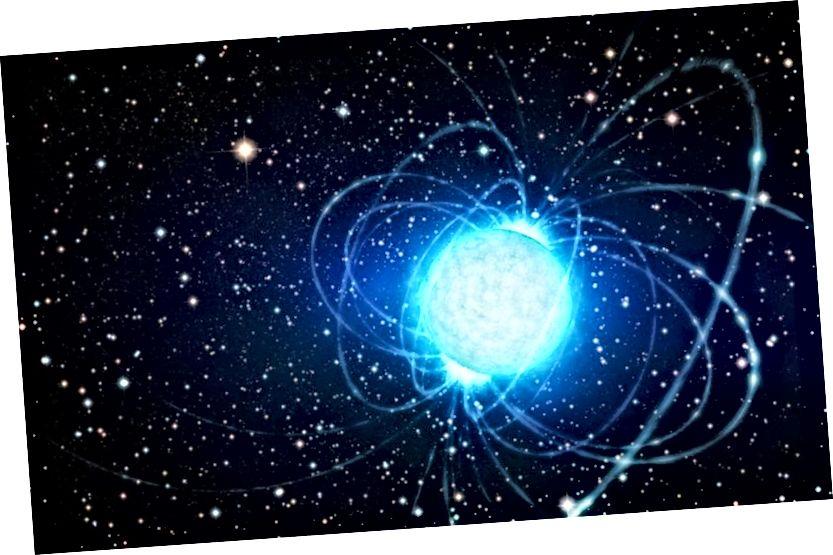 У нейтроннай зоркі вельмі мала і нізкая агульная свяцільнасць, але яна вельмі гарачая і патрабуецца шмат часу, каб астыць. Калі б вашы вочы былі дастаткова добрымі, вы б бачылі, як яно ззяе ў мільёны разоў цяперашнюю эпоху Сусвету. Малюнак: ESO / L. Кальчада.