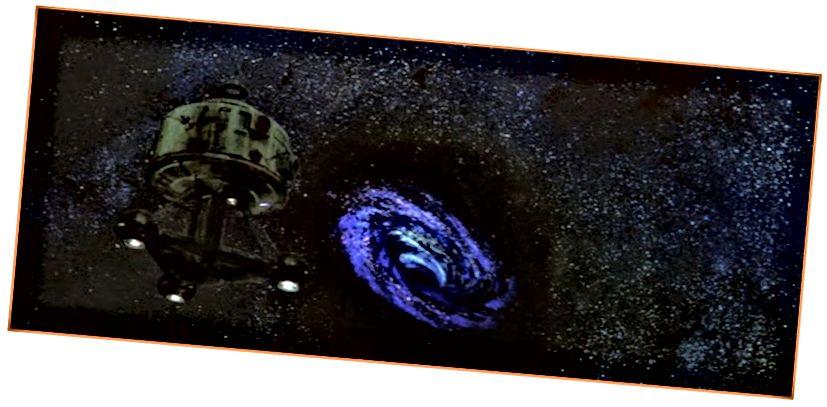 Lubang hitam yang tampak keren di Disney's The Black Hole (1979).