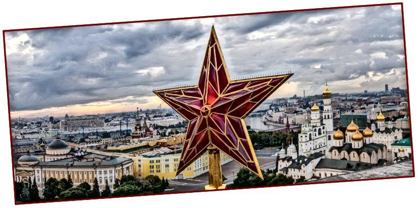 Pentagon dan Kremlin, mungkin dua lubang hitam informasi terbesar di Planet Bumi. Bintang Merah untuk Soviet meledak ke dalam lubang hitam yang lebih dalam sejak dulu, sementara Pentagon menggunakan Bintang dan Garis untuk membenarkan lubang hitamnya.