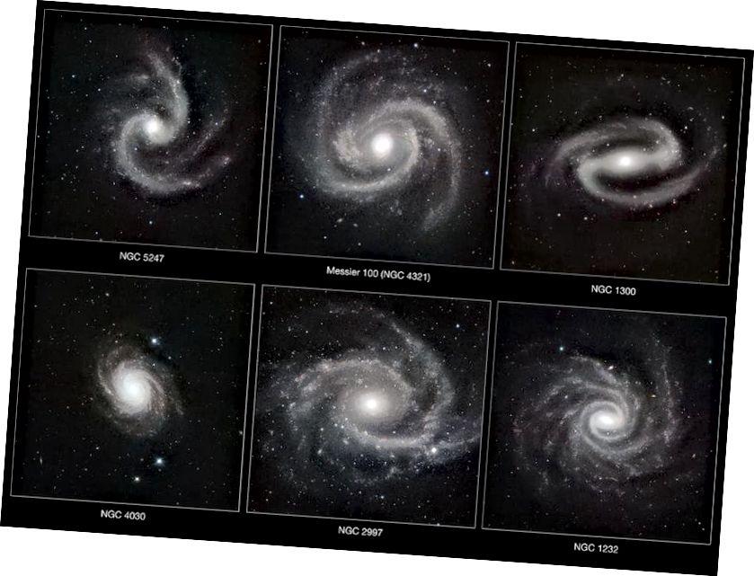 Спіралі былі выразна заўважаныя з сярэдзіны 1800-х гадоў і пераважалі на начным небе. Але іх характар быў загадкай, і дэмакратычная спроба ўрэгуляваць пытанне выклікала толькі больш пытанняў. (Крэдыт малюнкаў: ESO / P. Grosbøl, праз http://www.eso.org/public/images/eso1042a/)