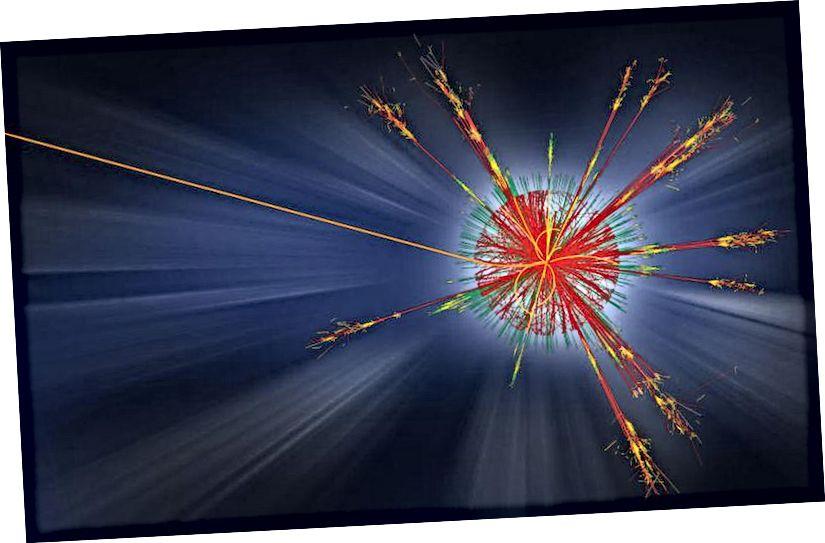 LHC-s olid füüsikud otsinud tohutul hulgal potentsiaalseid uusi füüsika allkirju, alates lisamõõtmetest kuni tumeda aine kuni supersümmeetriliste osakeste ja mikromustade aukudeni. Hoolimata kõigist nendest suure energiatarbega kokkupõrgetest kogutud andmetest, pole ükski neist stsenaariumidest tõestanud nende olemasolu toetavaid tõendeid (CERN / ATLAS EKSPERIMENT)