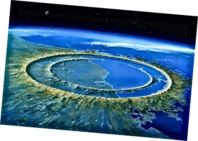 Meteorski krater promjera 180 km na Yukatu