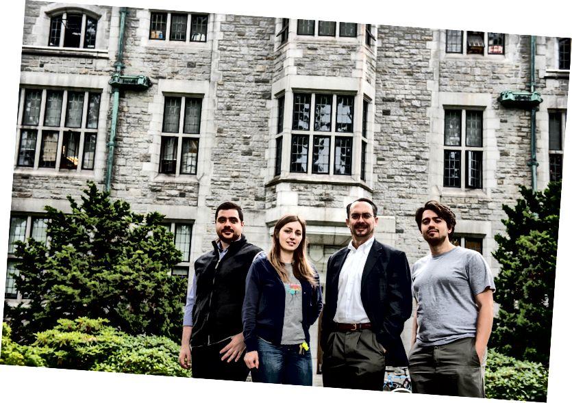 Злева направа: Каве Мацінкю, Ала Прыйма, Дэвід Перын і Міхайла Тодаровіч. На здымку: Пол Іосіф / UBC.