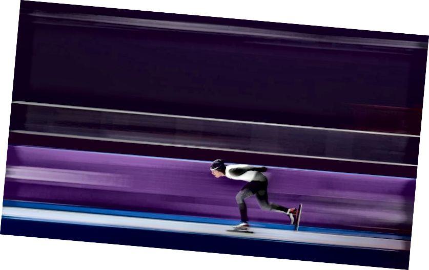 Der Japaner Ryosuke Tsuchiya im 10.000-m-Eisschnelllauf-Finale der Männer im Gangneung Oval am sechsten Tag der Olympischen Winterspiele 2018 in PyeongChang in Südkorea. Tsuchiya wurde 10 .. Bildnachweis: Mike Egerton / PA Bilder über Getty Images.