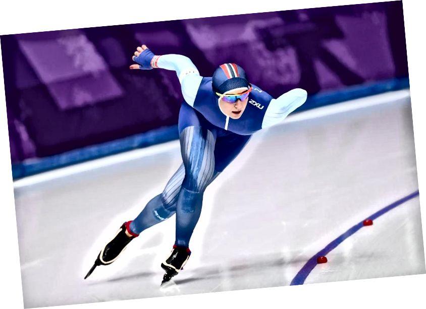 Ida Njatun aus Norwegen nimmt am dritten Tag der Olympischen Winterspiele 2018 in PyeongChang am Finale der 1.500 m langen Eislaufbahn teil. Sie hat keine Medaille gewonnen. (Ronald Martinez / Getty Images.)