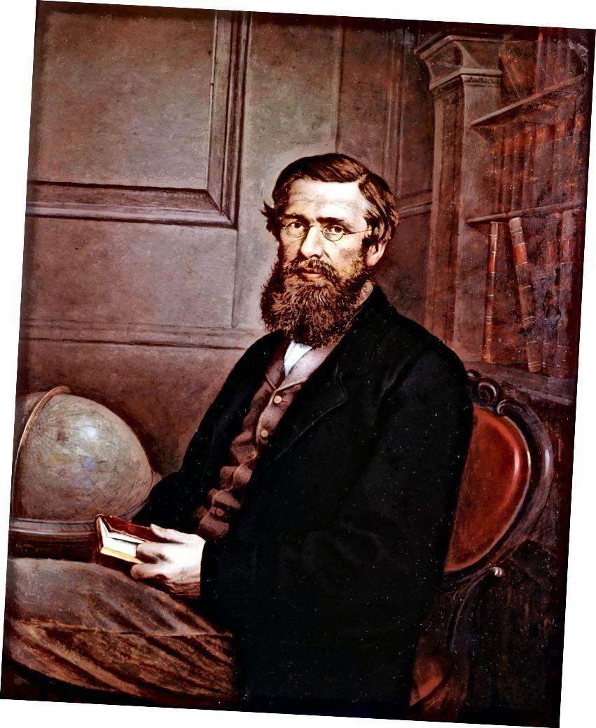 Чарльз Дарвин 1855 (солдо) жана Альфред Рассел Уоллес 1860-жыл (оңдо). Насыялар: Беттман (солдо) жана Мондориори портфолиосу (оңдо) Getty Images аркылуу