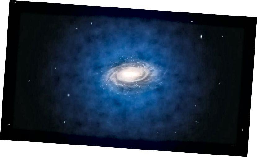 Čeprav večina temne snovi v galaksiji obstaja v ogromni halo, ki nas zajame, vsak posamezni delček temne snovi pod vplivom gravitacije naredi eliptično orbito. Če je temna snov svoj lastni delček in se naučimo, kako jo izkoristiti, je to morda najboljši vir proste energije. (ESO / L. Calçada)