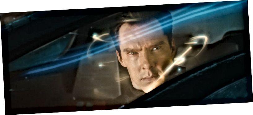 अंधेरे में स्टार ट्रेक में जॉन हैरिसन का परिवहन। छवि क्रेडिट: scifiempire.net के KANE2026, स्वतंत्र रूप से उपलब्ध फिल्म ट्रेलर से उठा लिया गया।