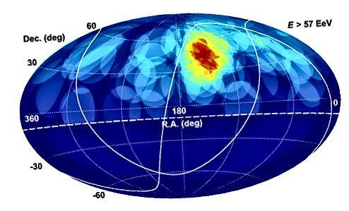 Чырвоная вобласць у Паўночным паўшар'і - гэта месца, дзе часцей за ўсё назіраліся назіранні. Гэта меркаваная