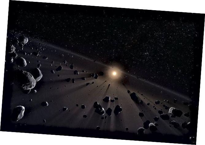 Moguće je da su i planeta devet i ledeni disk poput onoga prikazanog ovdje odgovorni za orbite objekata Kuiperovog pojasa. Slika Europskog južnog opservatorija / M. Kornmesser.