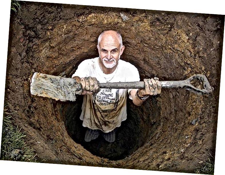 Калі вы ўскочылі на Паўночны полюс праз сапраўдную бяздонную яму, вы зноў паўсталі б у той жа момант праз 90 хвілін. Калі хто-небудзь пакінуў для вас рыдлёўку, вы маглі б схапіцца, калі вы зноў з'явіліся. (coljay72 / CC-BY-SA-3.0)