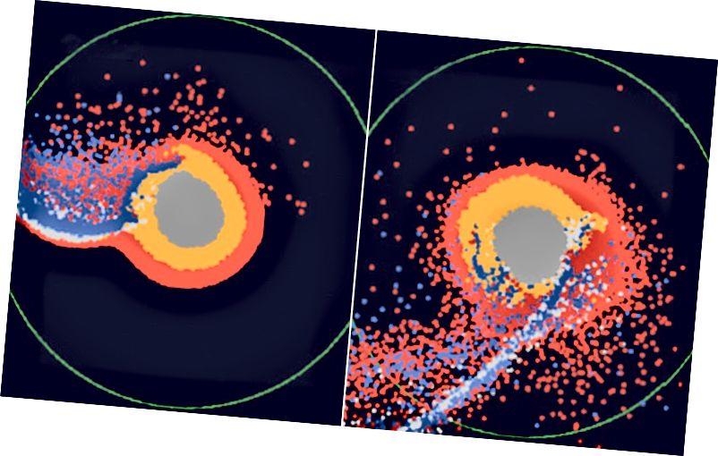 Προσομοιώσεις υπολογιστών που δείχνουν πώς το μάγμα που καλύπτει την επιφάνεια της πρώιμης Γης θα μπορούσε να έχει αλλάξει το σχηματισμό της Σελήνης Πιστωτική εικόνα: Hosono, Karato, Makino & Saitoh