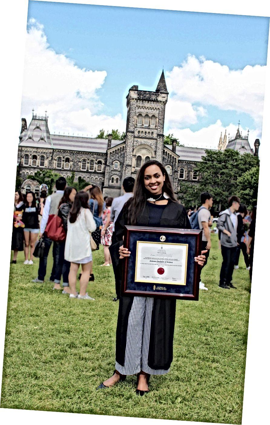 Lina Elfaki, a torontói egyetem IMS MSc hallgatója. (A cikkben használt fényképeket Lina Abdullatif készítette.)