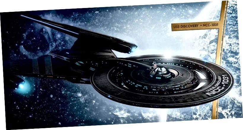 Is tagairt an-tanaí é an USS Discovery, NCC-1031, do 'Alt 31,' Star Trek agus d'fhéadfadh rudaí éirí níos dorcha sula dtéann duine ar bith ar ais chun bheith ina thaiscéalaí. Creidmheas íomhá: Star Trek / CBS Press Kit.
