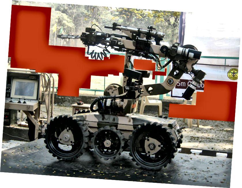 Дакш - дасціпна распрацаваны ROV ў Індыі