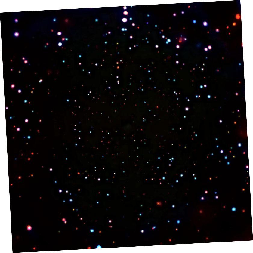 D'úsáid taighdeoirí íomhánna X-gha mar an gceann seo chun foirmiú maighnéadar a aithint. Léiríonn dathanna difriúla leibhéil éagsúla fuinnimh X-gha a bhraitheann Réadlann X-gha Chandra. (Réadlann X-gha Chandra)