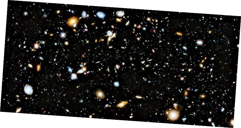 Mynd með tilliti til Hubble.