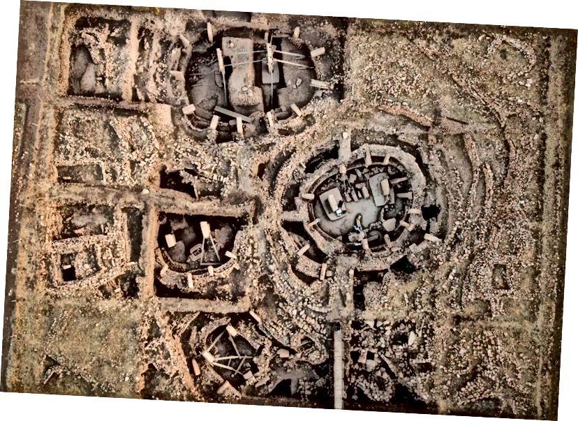 Luftfoto af Gobekli Tepe