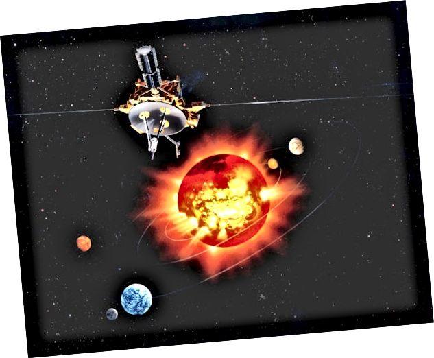 Umjetnikov dojam o svemirskom brodu Ulysses. Izvor: NASA JPL