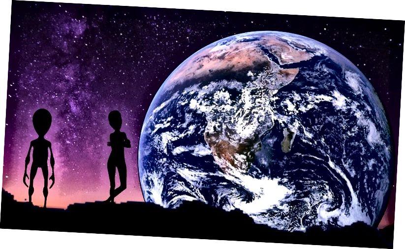 Εάν οι εξωγήινοι είναι εκεί έξω, η απόκρυψη της νοημοσύνης και της περιέργειάς μας θα τους βλάψει μόνο μας και δεν θα εμπόδιζε τον κόσμο μας να βρεθεί από αυτούς. Πιστωτική εικόνα: muzz32 / pixabay.