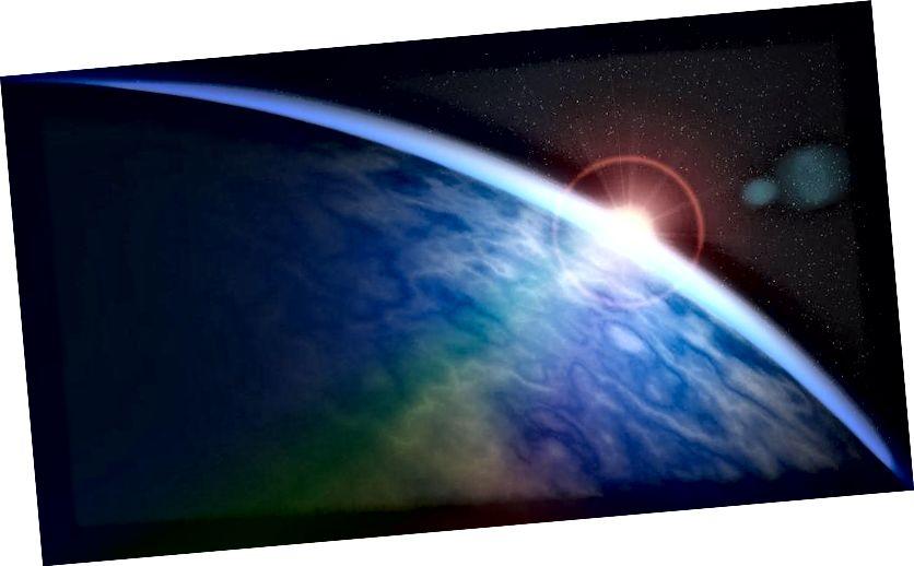 Երկուսն էլ արտացոլված արևի լույսը մոլորակի վրա և ներծծված արևի լույսը մթնոլորտում ներկելու երկու մեթոդ են, որոնք ներկայում մարդկությունը զարգացնում է `հեռավոր աշխարհների մթնոլորտային պարունակությունն ու մակերեսային հատկությունները չափելու համար: Հետագայում սա կարող է ներառել նաև օրգանական ստորագրությունների որոնում: Պատկերի վարկ. Melmak / pixabay: