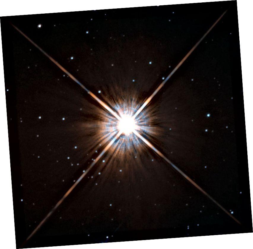La stella più vicina al nostro Sole - Proxima Centauri - come immaginata dal telescopio spaziale Hubble. Credito d'immagine: ESA / Hubble e NASA.