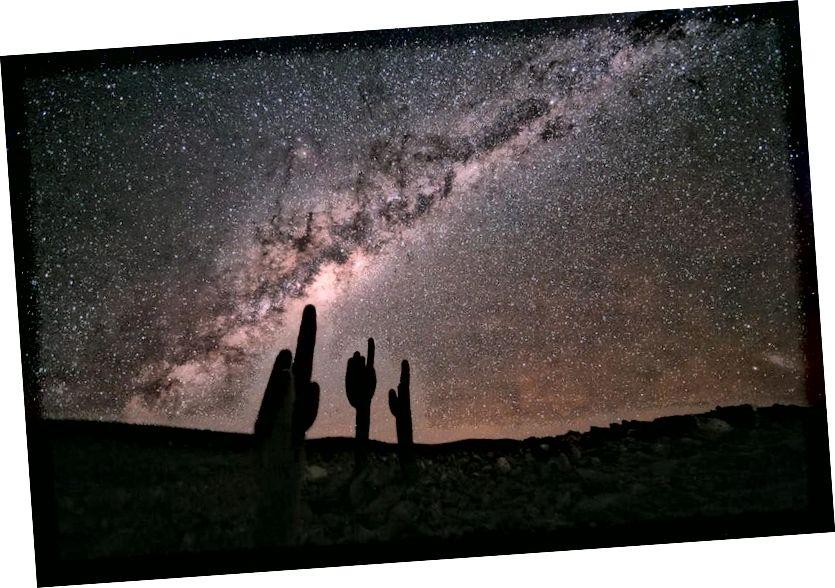 Unsere Milchstraßengalaxie von der Erde aus gesehen. Glücklicherweise sind wir weit vom Zustand maximaler Entropie des Universums entfernt. (Quelle)