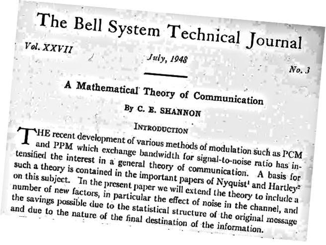 Nach 1948 begann Claude Shannons Stern zu steigen, was in hohem Maße auf der Veröffentlichung dieser Arbeit beruhte.