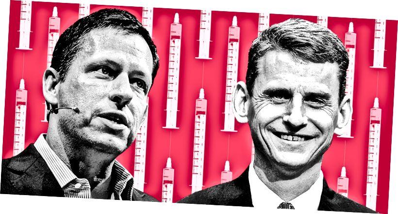 Peter Thiel, lijevo, i William Halford, desno. (Slika NEO.LIFE; Thielova fotografija Dan Taylor)