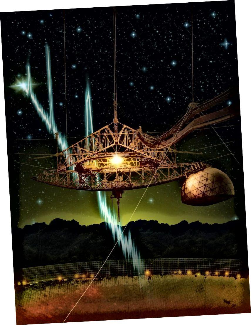 Dugo se teoretira da će prvo otkrivanje izvanzemaljske inteligencije doći iz radio valova. Nedostatak opaženog signala ne znači da vanzemaljci nisu vani, odašilju se ili čekaju da budu otkriveni. Ali izvlačenje zaključaka o broju civilizacija tamo bez ikakvih dokaza nije samo zavaravanje budala, to je i nenaučno. (Danielle Futselaar)