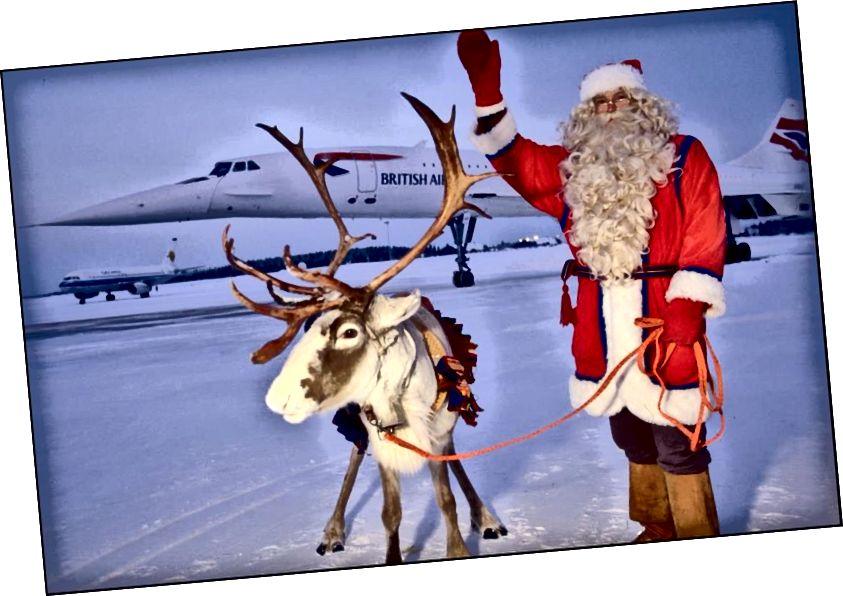 Iako je finska tradicija posjećivanja Djeda Božićnjaka (i možda ponekog jelena) na brodu Concorde, njegov stvarni let u noći na Badnjak zahtijeva puno rada i puno priprema. Koliko znamo o znanosti o Djedu Mrazu, evo kako to on radi. (ERIC CHRETIEN / GAMMA-RAPHO VIA GETTY IMAGES)
