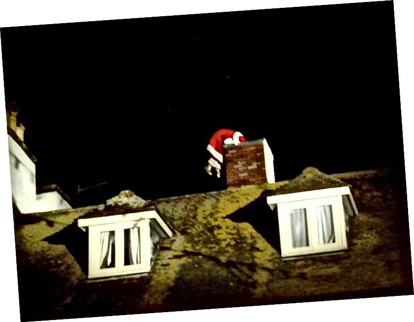 Mnogi popularni prikazi Djeda Mraza ne uključuju ga da slijedi optimalni put koji je odredila znanost, ali to nas ni na koji način ne bi moglo zaključiti da Djed Mraz ne može obaviti posao. Zapravo, znanost nam točno govori kako bi to učinio! (KORISNIK FLICKR POVRATI BORNEMOUT I BAZEN)