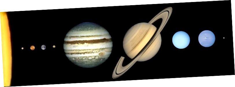 Während eine visuelle Inspektion eine große Lücke zwischen erdgroßen und neptungroßen Welten zeigt, können Sie in Wirklichkeit nur etwa 25% größer als die Erde sein und trotzdem felsig sein. Alles, was größer ist, und du bist eher ein Gasriese. Während Jupiter und Saturn enorme Gashüllen haben, die ungefähr 85% dieser Planeten ausmachen, sind Neptun und Uranus sehr unterschiedlich und sollten große, flüssige Ozeane unter ihrer Atmosphäre haben. (MUNAR- UND PLANETENINSTITUT)