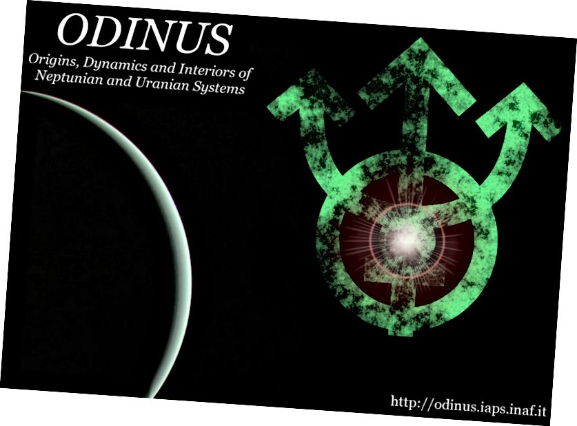Misioni ODINUS, i propozuar nga ESA si një ndërmarrje e përbashkët me NASA, do të eksplorojë të dy Neptun dhe Uranus me një grup të dyfishtë orbiterësh. (EKIPI ODINUS - MART / ODINUS.IAPS.INAF.IT)