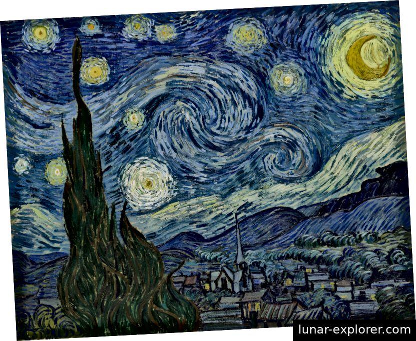 Die sternenklare Nacht von Vincent Van Gogh, 1889.
